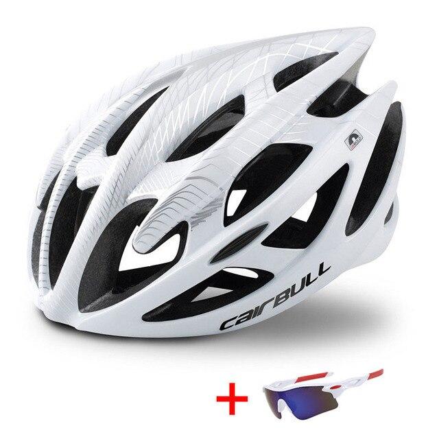 Capacete profissional de bicicleta de estrada e de montanha, capacete com óculos ultraleve dh mtb all-terrain esportes equitação ciclismo 3