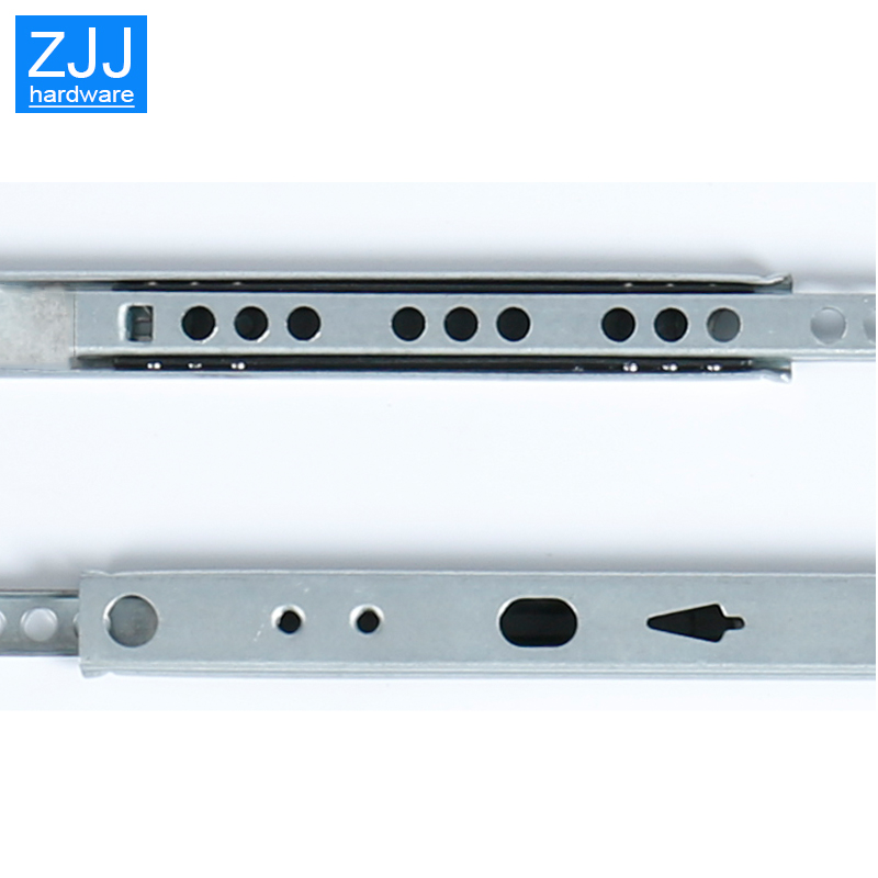 Image 5 - Mini Two way sliding Drawer slides Ball Guide Two Sections 17mm Wide Steel Fold Drawer Steel Ball Slide Rail Furniture Hardware-in Slides from Home Improvement