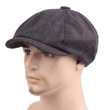 1 pçs boina peaky blinder boné de notícias do vintage boina homem de algodão plana peaked boina chapéus casuais espinha de peixe boina peaky blinder