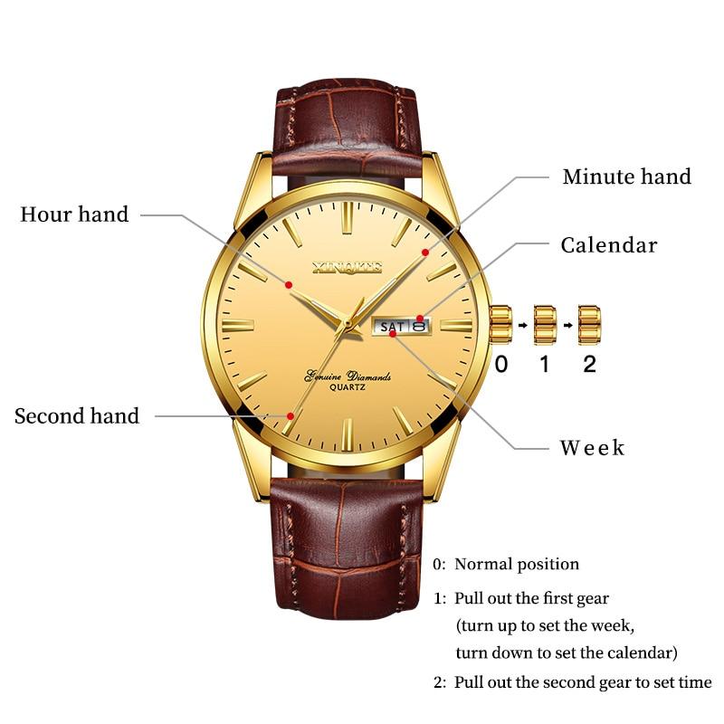 H522c6b5fda98428cb9258d8f7f905e22K XINQITE Official Men Watches 2019 brand luxury Quartz Watches Fashion Genuine Leather Waterproof Watch for gentleman Students