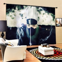 Anime Blackout Curtains 2 Panels for Living Room Bedroom Polyester Window Drapes Custom Size Home Decor Curtains for Boys Kids
