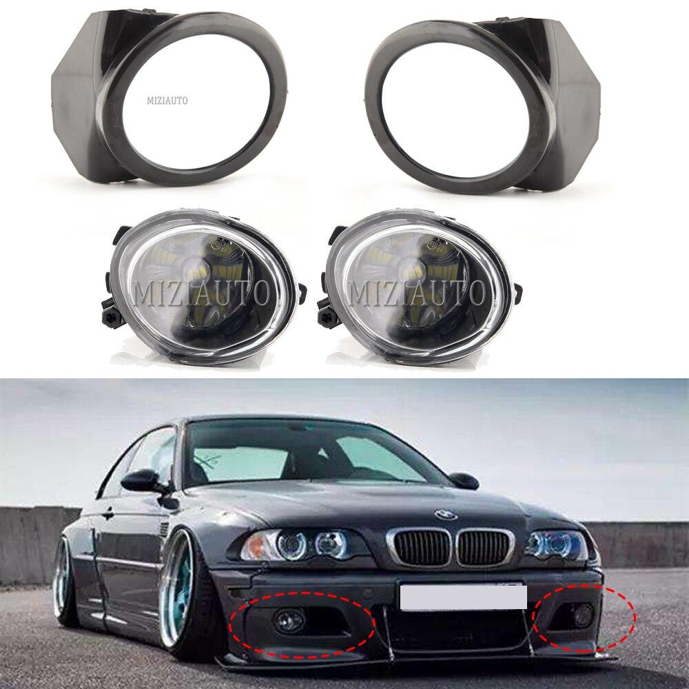 Автомобильная противотуманная фара светильник s чехлы для BMW E46 M3 2001 2002 2003 2004 2005 2006 E39 M5 1995-2004 левый + правый пара черный туман светильник лампа ...