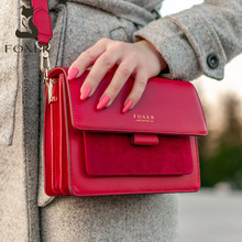 FOXER Women Bags Split Cow Leather Crossbody Shoulder Bags 2020 Fashion Small Lady Flap Purse Female Bag Valentine Gift for Girl
