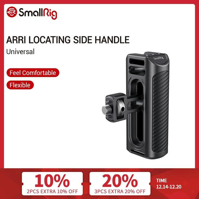 SmallRig Aluminum Arri Locating Side Handle For Camera Cage With Arri Locating Hole On The Side   2426