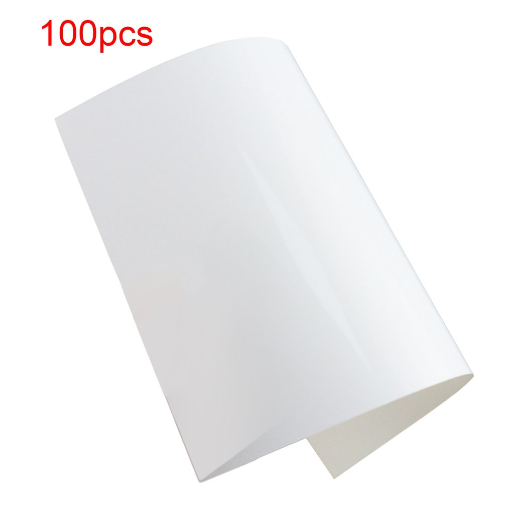 TIANSE 100 Sheets/pack Photographic Paper For WECHAT A7 Size Photo Waterproof Quick Dry Real Color Photo Album Cover