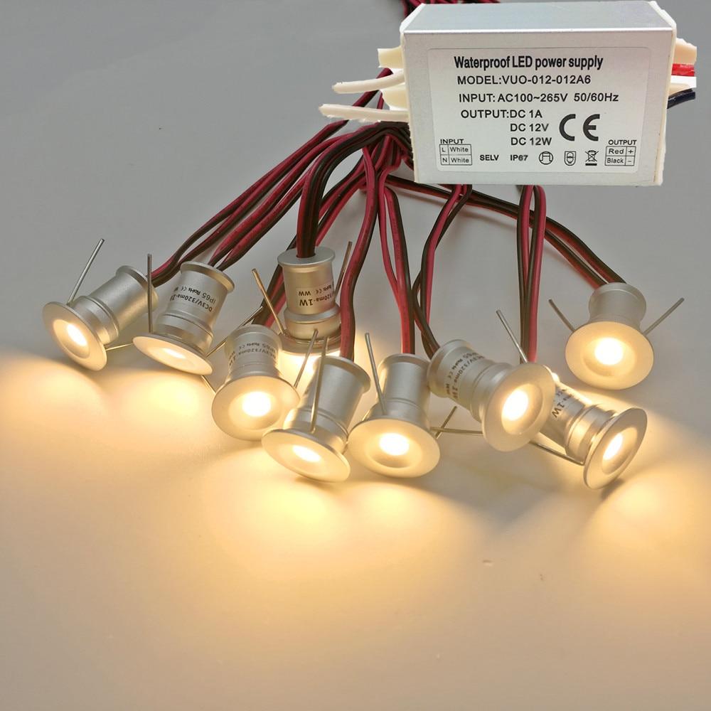 Odkryty pokład DJ KTV Party etap reflektor z transformatorem IP65 1W 12V Mini oświetlenie sufitowe LED Downlight Focos lampa punktowa CE