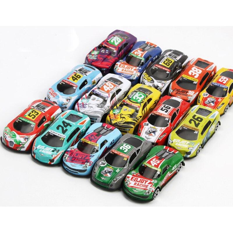 Metal Iron Sheet Aluminum Car Track Simulation Sports Car Model Boy Child Toy Car Mini Racing Car Multicolor