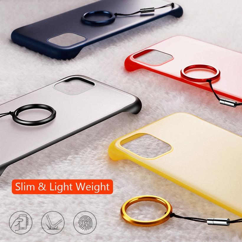 Frameless Slim Matte Hard Back Cases for iPhone 11/11 Pro/11 Pro Max 5