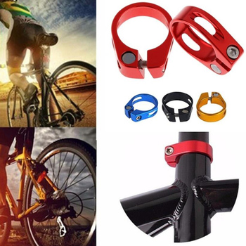 1Pc 31.8 / 34.9mm Bicycle Seatpost Clamp Seat Post Tube Clip With 6 Color Mountain Bike Seat Pipe Clamp Road Bike image