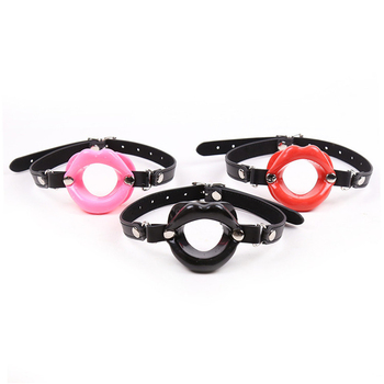 BDSM Gay Toys Open Mouth Gag Fetish Slave Bondage Restraints Oral Sex Lip Gag Ball Adult Sex Tools for Women Men Erotic Sex Shop