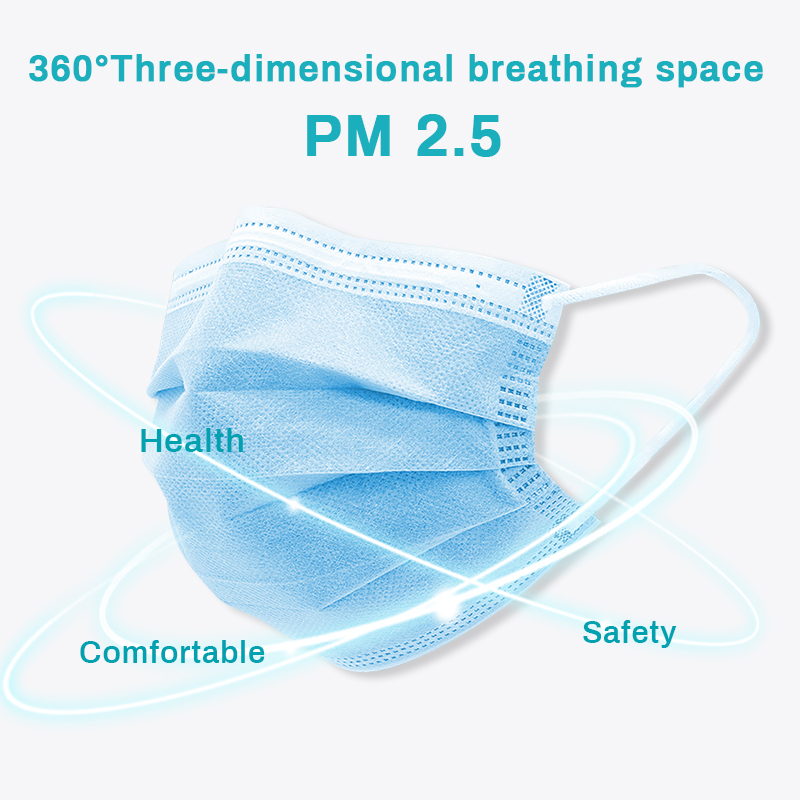 50Pcs Face Masks 3 Ply Anti Pollution Dust Filter Disposable Mouth Mask Protective Respirator FPP2 Maska Antywirusowa PM2.5 FPP3 1