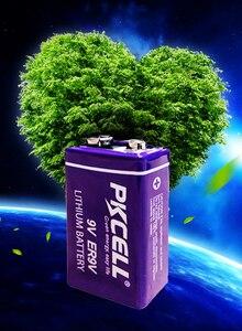Image 5 - 4Pcs PKCELL ER9V 1200mAh 9V Li SOCl2 ליתיום סוללות Bateria עבור עשן מעורר ליתיום יון סוללה 6LR61 6F22