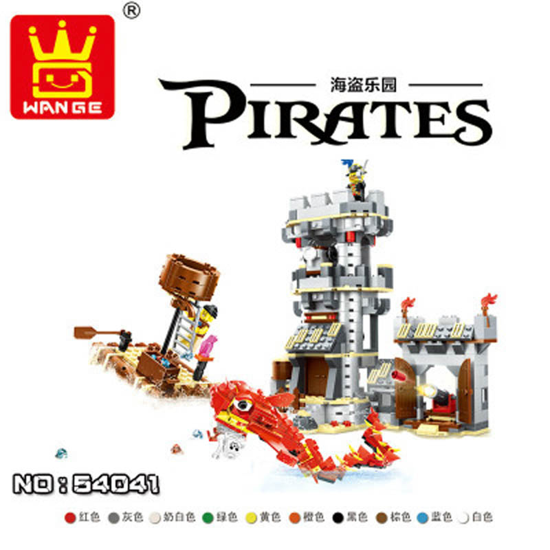wange  new hot style 54041 pirate paradise puzzle DIY inserted small particles toy boys and girls|Stacking Blocks|   - title=