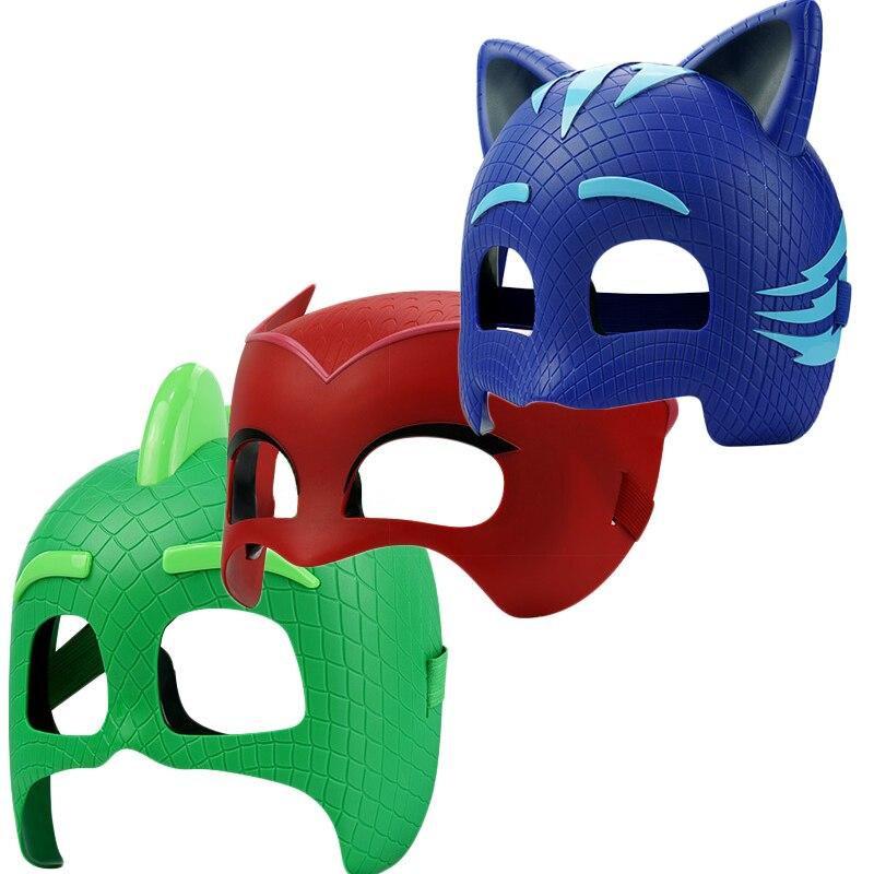 PJ Masks Costume Cosplay Masks Bracelet Catboy Owlette Gekko Anime Dolls Action Figures Mask Birthday Party Clothes Kids Gifts