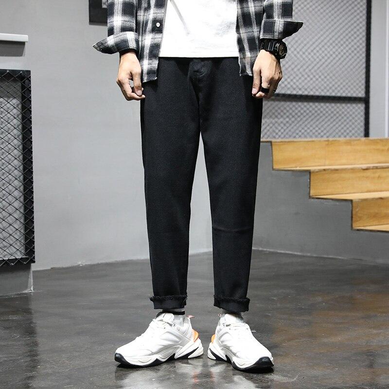 Fa5704 2019 New Autumn Winter Men Fashion Casual Denim Pants Denim Men Clothes