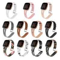 Druck leder Uhr band Für Fitbit Versa 2 Smart Uhr Muster Armband Band für fitbit versa/versa lite correa