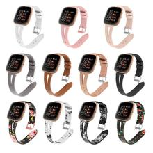 Printing leather Watch band For Fitbit Versa 2 Smart Watch Pattern Bracelet Band for fitbit versa / versa lite correa