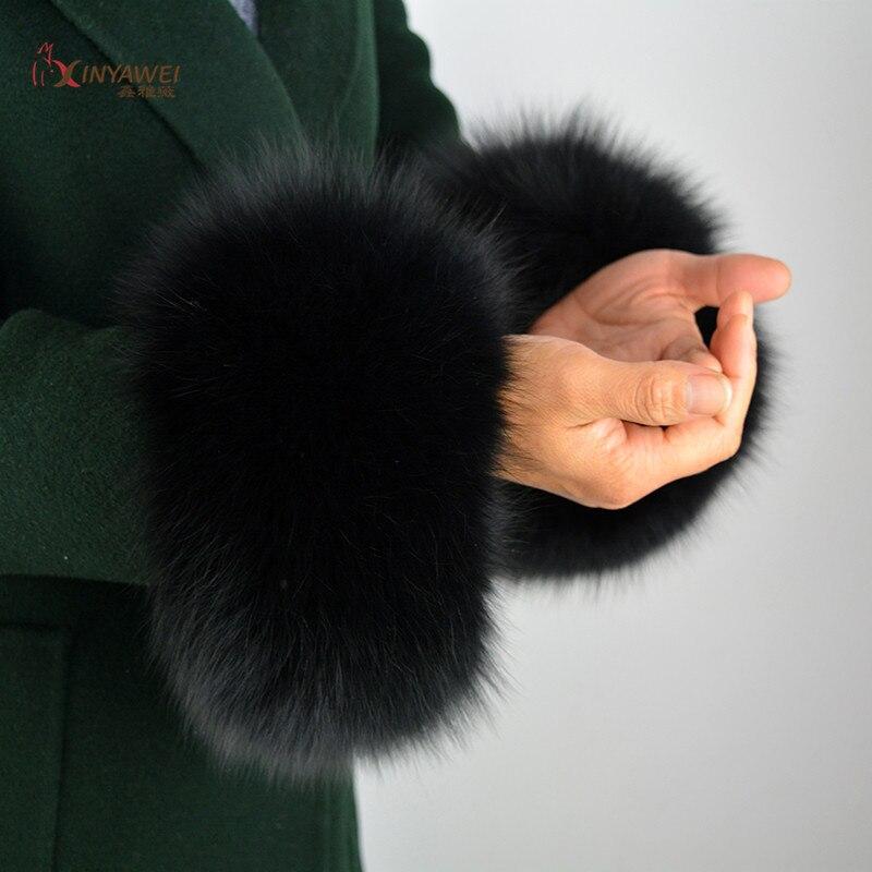 Fox Fur Arm Warmer Lady Cuff Real Fur Bracelet High Quality Glove Fox Fur Cuffs Special Offer Warmer Wrist Cuff