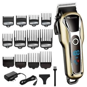 Image 1 - Turbo barber hair clipper professional hair trimmer men beard car electric hair cutter adjustable hair cutting machine haircut