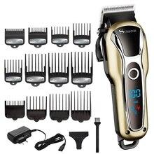 Turbo berber saç kesme profesyonel saç makası erkekler sakal araba elektrikli saç kesici ayarlanabilir saç kesme makinesi saç kesimi