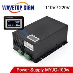 Categoria da fonte de alimentação do laser do co2 de 80-MYJG-100W w wavetopsign 100 para a gravura e a máquina de corte do laser do co2