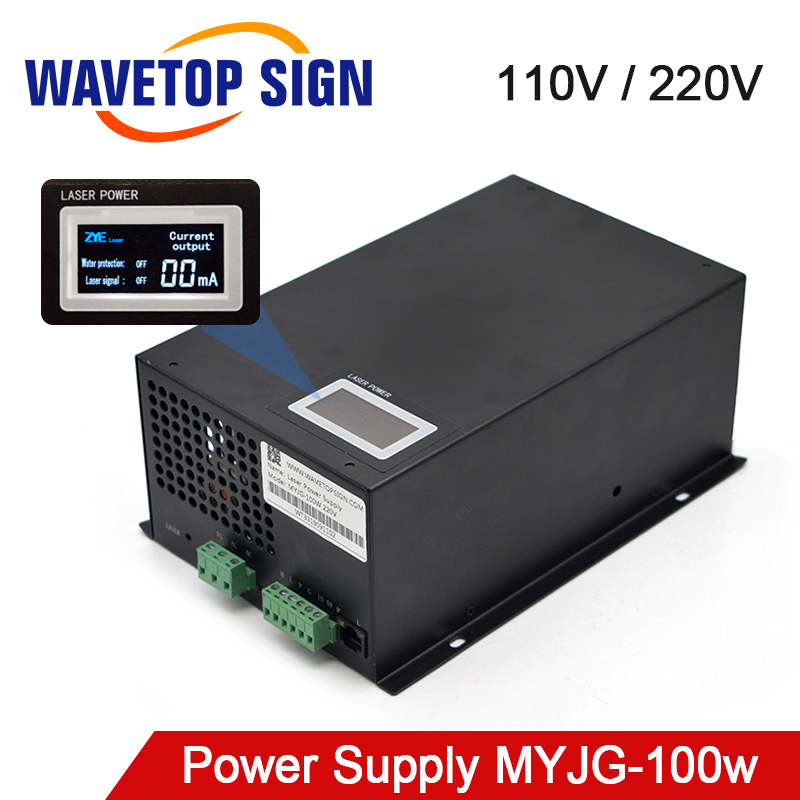 WaveTopSign MYJG-100W 80-100W CO2 Laser Power Supply Category For CO2 Laser Engraving And Cutting Machine