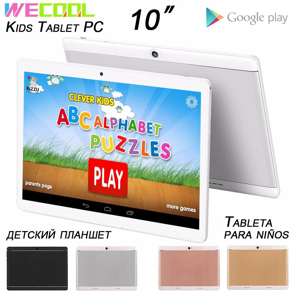 Wecool m102 10 polegada crianças tablet pc android tela de toque tablet para crianças 16gb pré-carregado aprendizagem aplicativos para o presente aniversário da criança