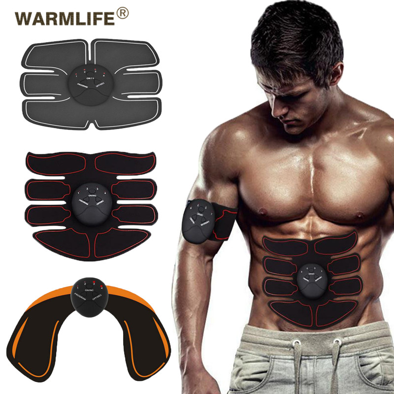 New Smart EMS Muscle Stimulator ABS Abdominal Muscle Toner Body Fitness Shaping Massage Patch Sliming Trainer Exerciser Unisex image