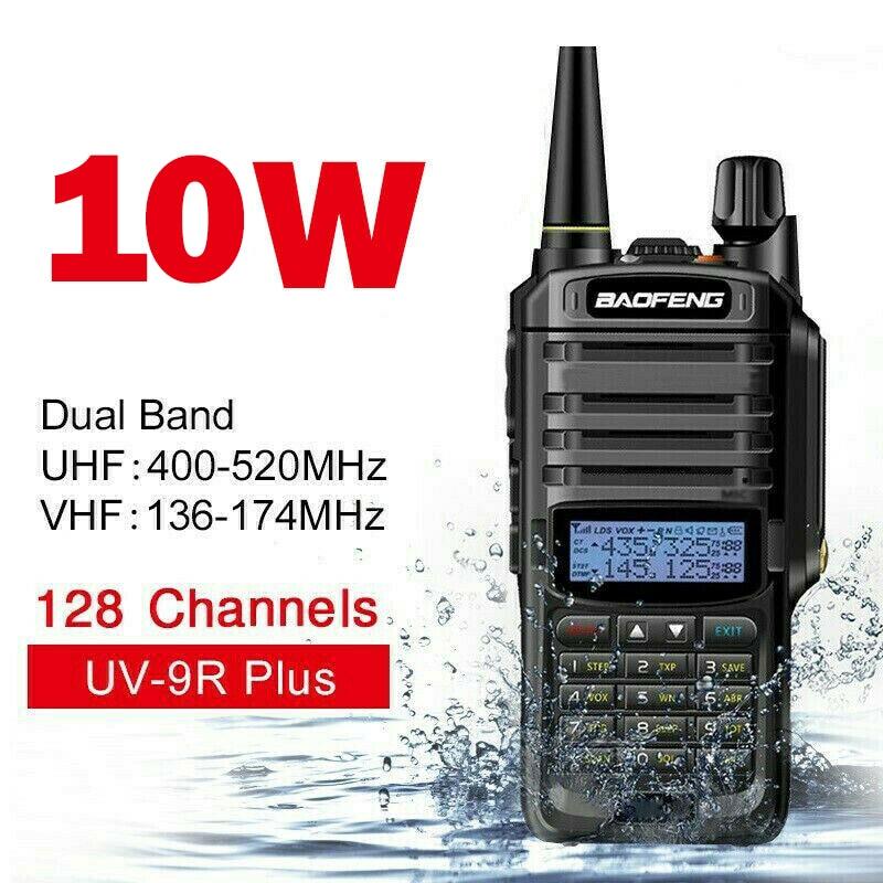 10 Вт Baofeng УФ-9Р плюс рации водонепроницаемый Tansmitter морская радиостанция любительская УКВ UV9R трансивер любительское радио сканер