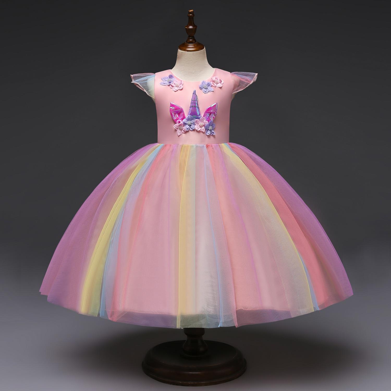 Girls Toddler Princess Fancy Tutu Dress Cosplay Party Halloween Costume Dress Up