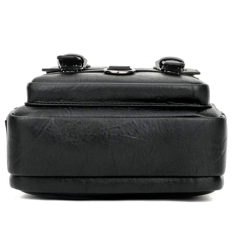 Image 4 - Alena Culian New Casual Leather Mens Business Messenger Bag  Zipper Hasp Design Open Handbags For Men Black Flap Shoulder  BagsCrossbody Bags