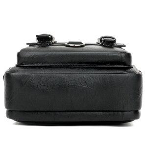 Image 4 - Alena Culian yeni rahat deri erkek iş askılı çanta fermuar çile tasarım açık çanta erkekler için siyah kapak omuz çantaları