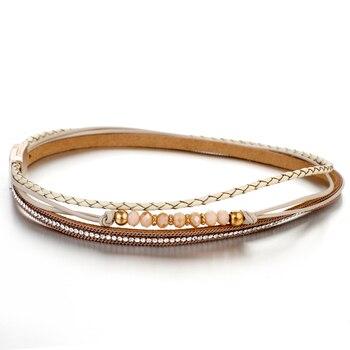 Braided Wrap Bracelet - Product Image - Yellow