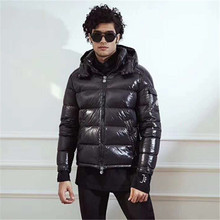 Winter Jacket Parkas Overcoat Windbreaker Hooded Snow White-Duck-Down Men Warm Thick