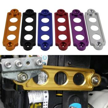 Battery Tie Down 1pc Car Racing Battery Tie Down Hold Bracket Lock Anodized For JDM Honda Civic Motor Mounts image