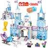 641 шт. Принцесса замок мечты, дом принцессы Анна, набор друзей, город, Эльза, ледяной замок, строительные блоки, игрушки для девочек