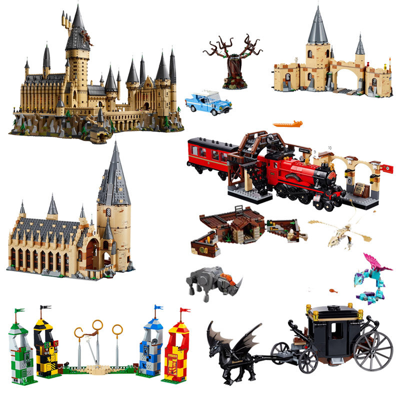 2019 Movie 2 Hogwartsine Great Hall Compatible Legoines 75950 75951 75952 75953 75954 75955 75956 83037 Toys Figure for Children