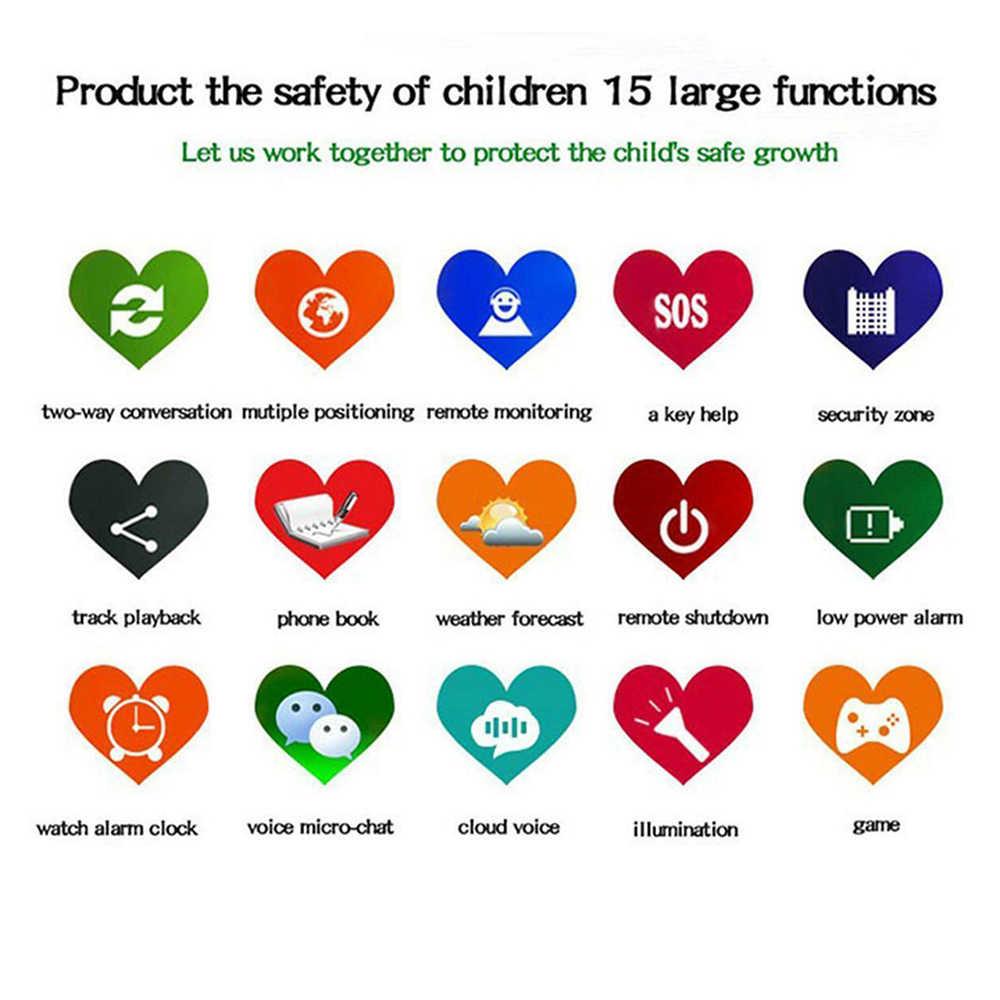 Детские умные часы, анти-потеря, детский безопасный gps трекер, SOS Вызов, GSM умные часы, браслет, умное позиционирование, подходит для Android IOS, английский