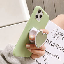 Rotatable gutta percha fold ring finger grip mobile phone holder for iphone  xiaomi huawei case Heart shape holder stand bracket
