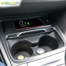 15W רכב אלחוטי טלפון מטען מים מחזיק כוס לקצץ עבור BMW F30 F31 F32 F34 F36 F22 330i 335i 328i אחסון תיבת מסגרת פנים