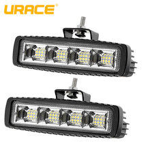 купить URACE 72w Offroad LED Light Bar 12V 24V Flood LED Work Light  For Offroad 4x4 4WD Car Truck SUV ATV UTV Boat Driving Fog Lamp дешево