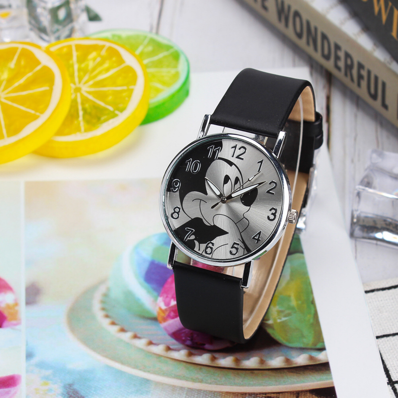 Cute Cartoon Quartz Wristwatch Children Leather Ladies BraceletWatch Mouse Watch Kids Watches Boy Girls Relojes Kol Saati Reloj