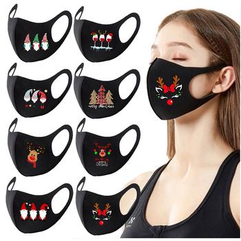 1 4pc modny nadruk świąteczny pyłoszczelna lodowy jedwab maska wielokrotnego użytku kolorowa tkanina twarz Turban stylowa maska na przyjęcie zmywalna 2021 tanie i dobre opinie CN (pochodzenie) BS-SASQDSS Bez pudełka