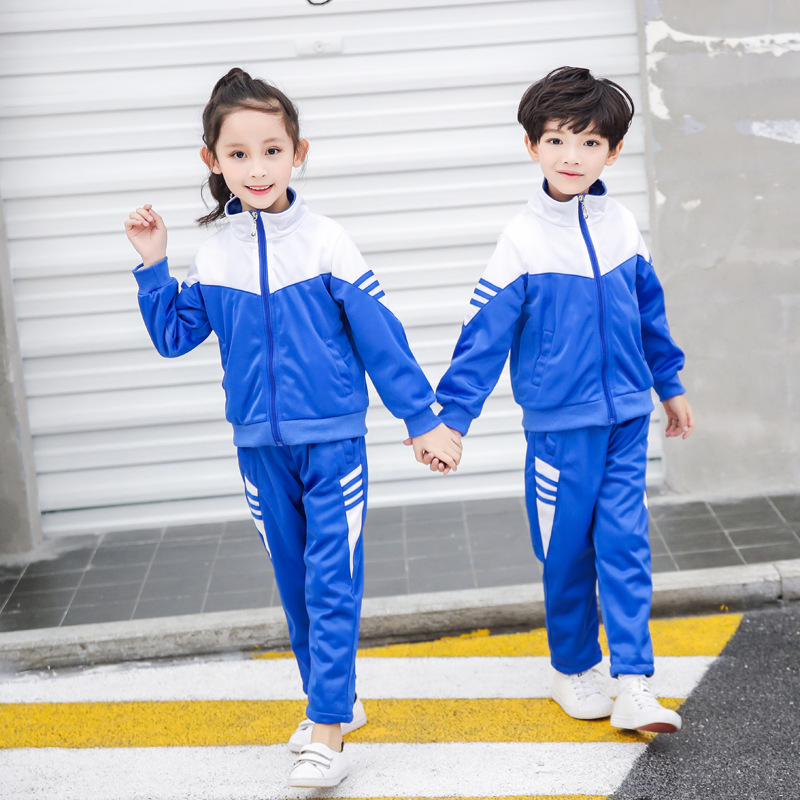 Kindergarten Suit Spring And Autumn 2019 New Style CHILDREN'S Sports Suit Men And Women Children Young STUDENT'S Business Attire