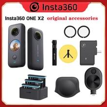 Insta360 Een X2 Originele Accessoires Mic Adapter/Lens Guards /Lens Cap/Lading Hub /Bullet Tijd Cord /Utility Frame Accessoires