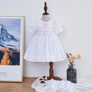 2 uds. Vestidos de Bata para niñas pequeñas hechos a mano, vestido de bordado infantil, vestido de Boutique para niños, ropa española