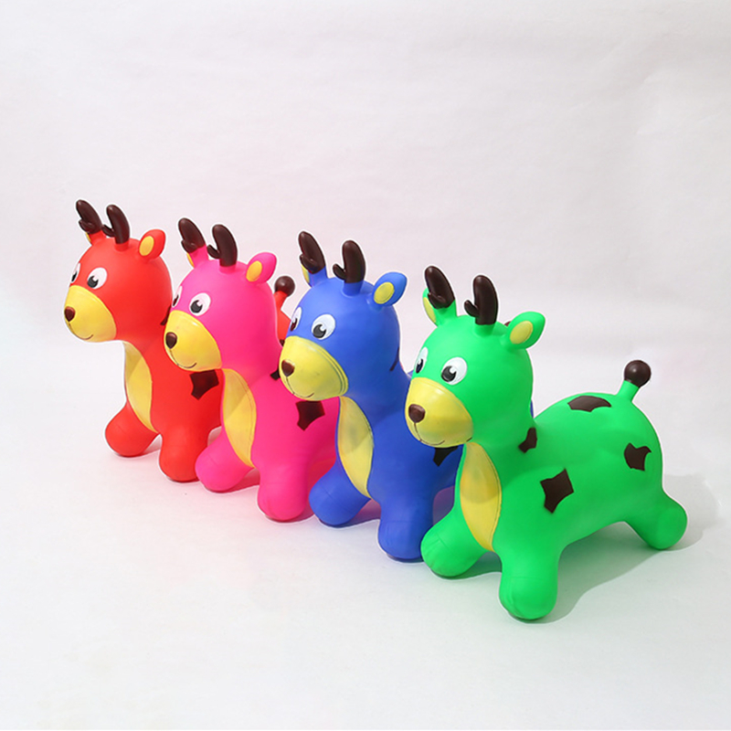 Children Inflatable Bouncing Sports Toys Ride on Animal Deer Jumping Horse for Kids Baby 58*28*55 CM