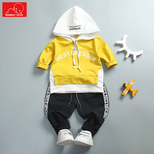 spring autumn baby boys girls clothing set hooded sweatshirt + pants kids  tracksuit toddler sports suit sportswear