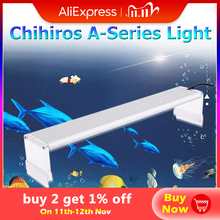 Chihiros A سلسلة أكواروم مصباح ليد خزان الأسماك النباتات المائية تنمو الإضاءة مقاوم للماء مشرق كليب على مصابيح 20 50 سنتيمتر AC100 240 فولت