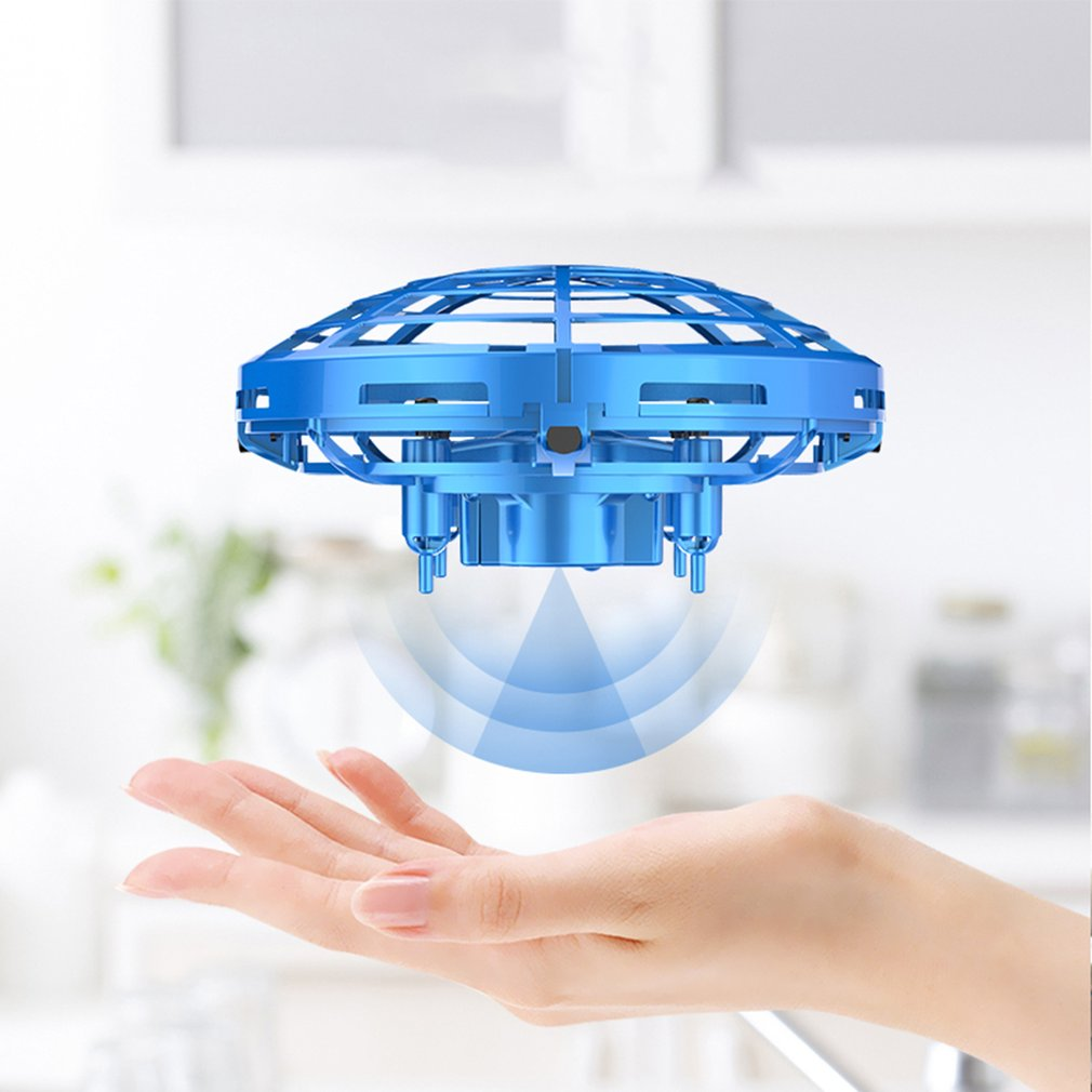New MINI RC Drone 4CH Infraed Induction RC Quadcopter Gyro Fly Ball Smart Shatterproof Pocket UFO Flying Helicopter Toys in RC Helicopters from Toys Hobbies